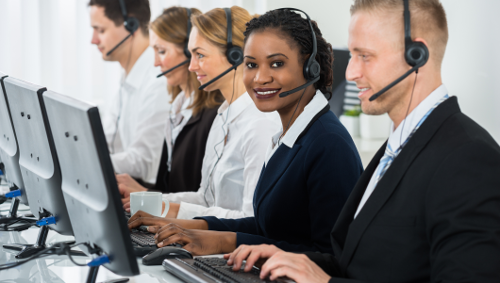 contact center homepage